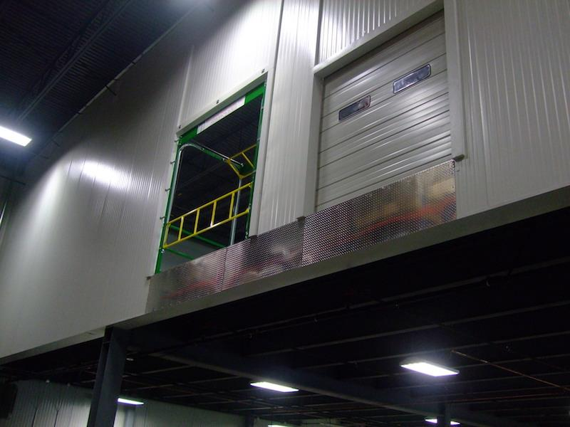 Roly Safety Gate in an elevated doorway