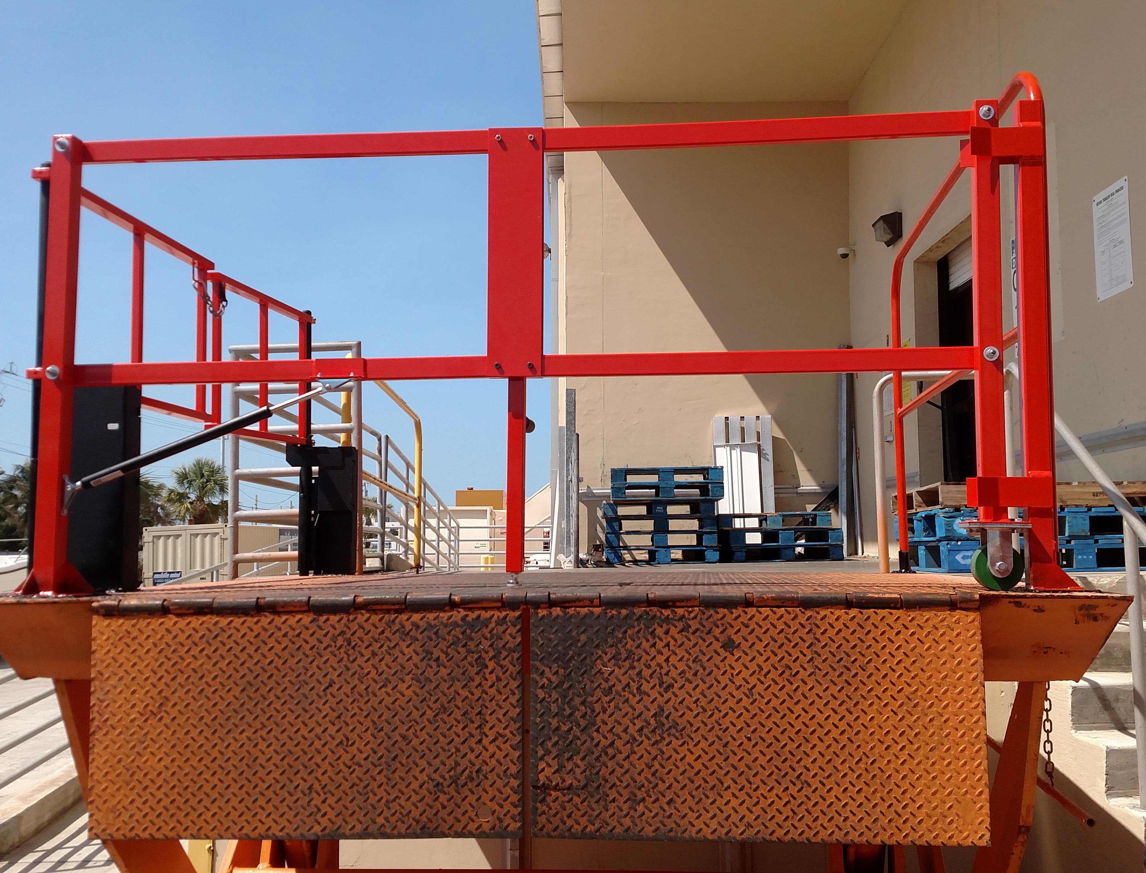 Lift Safety Gate for Loading Dock
