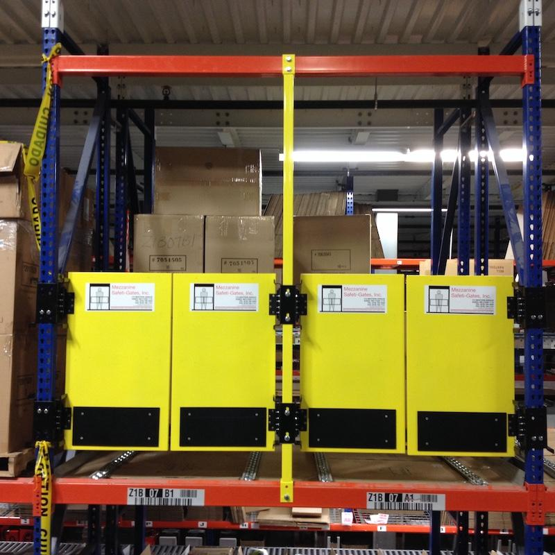 Mezzanine Pallet Gate : Pallet flow safety gate self closing swing