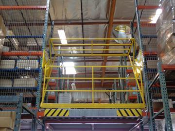 Safety gates for rack supported modules