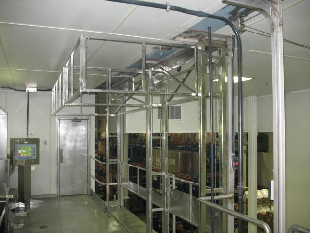 Stainless steel safety gate for fall protection