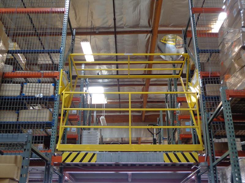 Roly Safety Gate in a Rack System