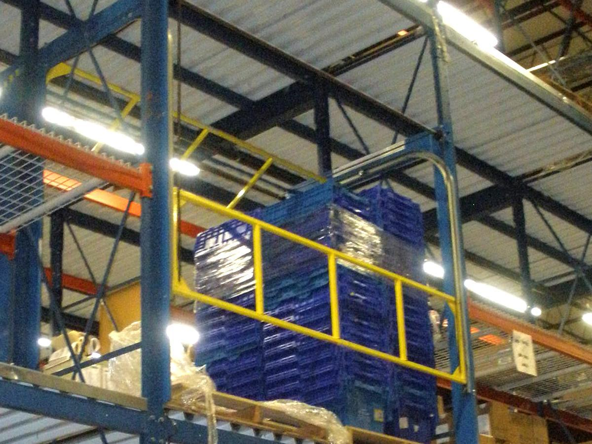 Rack Supported Safety Gate from Mezanine Safeti-Gates