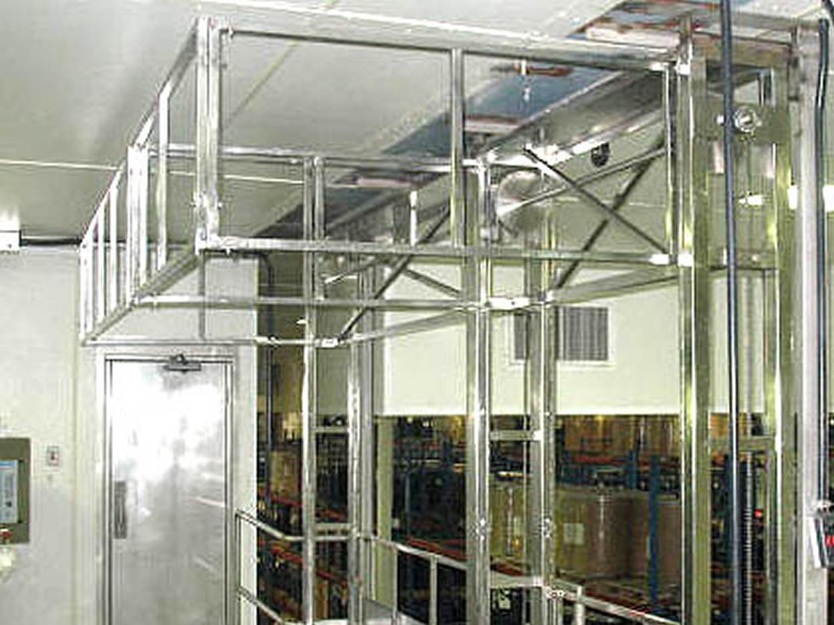 Stainless steel safety gate for industry
